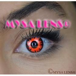 Lentilles De Contact De Couleur Fantaisie Crazy Lens  Volturi Rouge / Red Volturi De Marque MYSA LENS® 1 an
