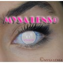 Lentilles De Couleur Fantaisie Blanche Aveugle Blind  12 Mois lentilles de contact Crazy De Marque MYSA LENS®