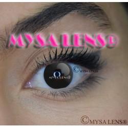 Lentilles De Contact De Couleur Fantaisie Crazy Lens Black / Noire De Marque MYSA LENS® 1 an