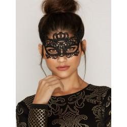 Masque Vénitien en Dentelle Noire VICKY