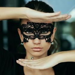 Masque Vénitien en Dentelle Noire CLARA