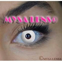 Lentilles De Contact De Couleur Fantaisie Crazy Lens White Out / Blanche De Marque MYSA LENS® 1 an