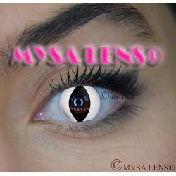 Lentilles De Contact De Couleur Fantaisie Crazy Lens  Chat Blanc / White Cat De Marque MYSA LENS® 1 an