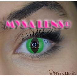 Lentilles Fantaisie CHAT VERT / GREEN  CAT   De Marque MYSA LENS® 1 an
