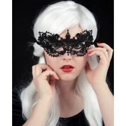Masque Vénitien en Dentelle Noire Anastasia