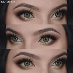 Lentilles Couleur VERT / K 3012 GREEN 3 Tons lentilles de contact fantaisie de marque MYSA LENS